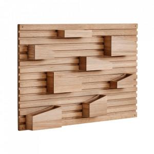 Organizator de perete maro din lemn de stejar 66 cm Input Woud