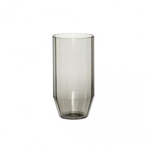 Pahar gri fum din sticla 7x14 cm Di Hubsch