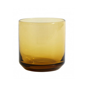 Pahar maro chihlimbar din sticla 8x8 cm Retro Nordal