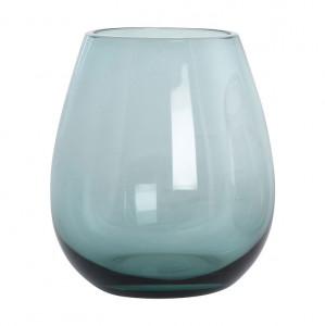 Pahar pentru apa lucrat manual din sticla albastra Ball House Doctor