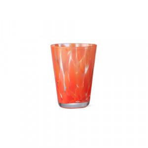 Pahar rosu/transparent din sticla 270 ml Casca Ferm Living