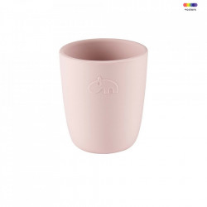 Pahar roz din silicon 6,6x7,4 cm Mini Powder Done by Deer
