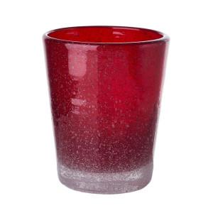 Pahar sticla Bubble rosu Pols Potten