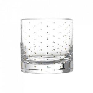 Pahar transparent din sticla 8,5x8,5 cm Stars Bloomingville