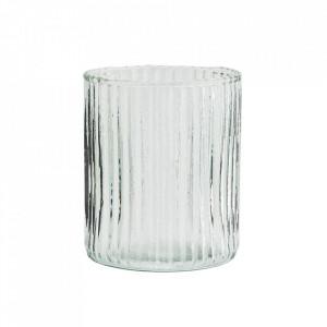 Pahar transparent din sticla 8x9 cm Dona Madam Stoltz