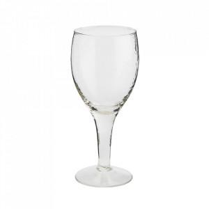 Pahar transparent din sticla pentru vin 8x19 cm Vital Madam Stoltz