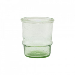 Pahar verde deschis din sticla 6,5x7,5 cm Jeema House Doctor