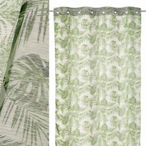 Perdea verde din poliester 140x260 cm LeavesTwo Unimasa