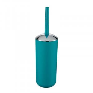 Perie albastru petrol/argintie din elastomer termoplastic pentru toaleta Saburo Wenko
