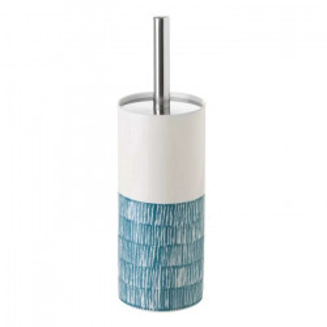 Perie toaleta albastra/alba din ceramica Drip Unimasa