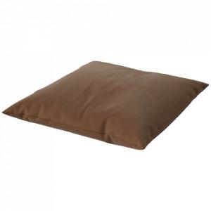 Perna de podea maro camel din bumbac 120x120 cm Mega Floor Bolia