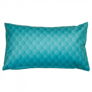 Perna decorativa dreptunghiulara albastru marin din bumbac si poliester 30x50 cm Dune Santiago Pons