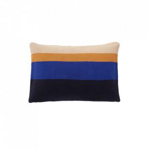 Perna decorativa dreptunghiulara multicolora din bumbac 40x60 cm Stich Blue Hubsch