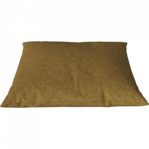 Perna decorativa patrata galben curry din lana 60x60 cm Classic Qual Bolia