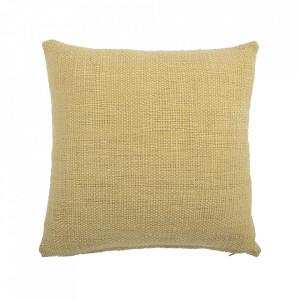 Perna decorativa patrata galbena din bumbac 45x45 cm Lemon Bloomingville