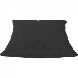 Perna decorativa patrata gri carbune din textil 50x50 cm Classic Ascot Bolia