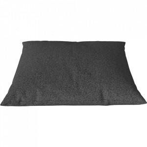 Perna decorativa patrata gri melanj din lana 60x60 cm Classic Qual Bolia