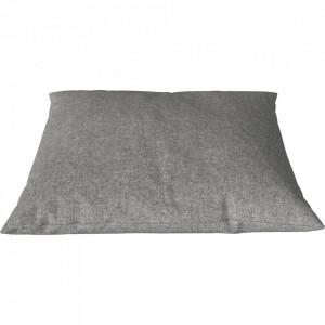 Perna decorativa patrata gri piatra din lana 60x60 cm Classic Qual Bolia