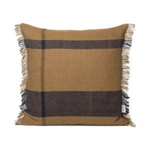 Perna decorativa patrata maro din bumbac si in 50x50 cm Dry Ferm Living