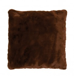 Perna decorativa patrata maro din poliester 50x50 cm Lyall Fur LifeStyle Home Collection