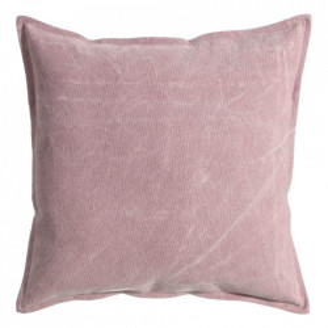 Perna decorativa patrata roz din bumbac 60x60 cm Hale Ixia