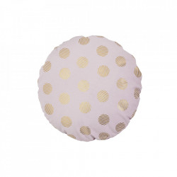 Perna decorativa rotunda roz din bumbac 50 cm Dots Bloomingville