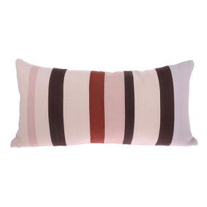 Perna dreptunghiulara multicolora din bumbac si in 35x70 cm Striped Pink HK Living
