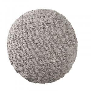 Perna rotunda gri deschis din bumbac pentru podea 50 cm Big Dot Light Grey Lorena Canals