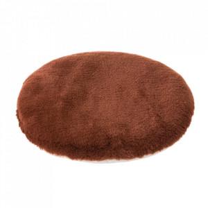 Perna rotunda maro teracota din poliester pentru sezut 38 cm Mars Unimasa
