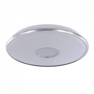 Plafoniera alba/argintie din plastic cu LED Lulea Maytoni