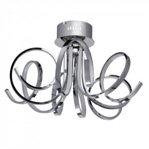 Plafoniera argintie din metal si plastic cu 6 LED-uri Regen Spiral MW Glasberg