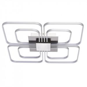 Plafoniera argintie din metal si plastic cu 8 LED-uri Regen Flower MW Glasberg