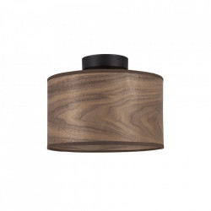 Plafoniera maro nuc din lemn si otel Tsuri Sotto Luce