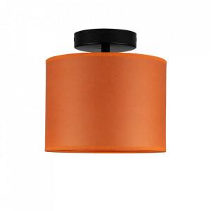 Plafoniera portocalie/neagra din hartie si otel Taiko Sotto Luce
