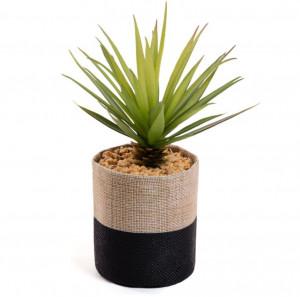 Planta artificiala cu ghiveci textil 21 cm Palm Kave Home