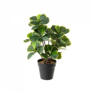Planta artificiala verde/neagra din poliester si polietilena 48 cm Tedi Unimasa
