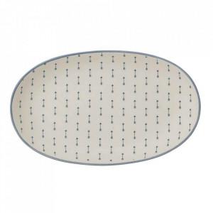 Platou albastru din ceramica 13x25,5 cm Arrow Bloomingville