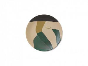 Platou multicolor din ceramica 37,5 cm Dayo Multi Ferm Living