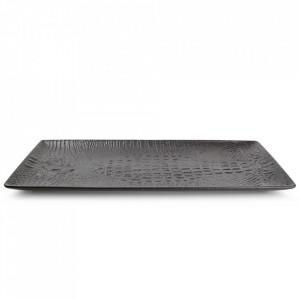 Platou negru din portelan 15,5x34,5 cm Croco Fine2Dine