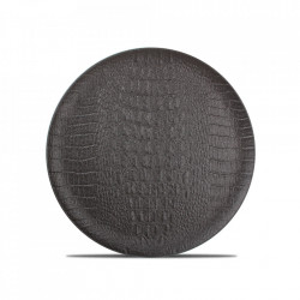 Platou negru din portelan 27 cm Croco Fine2Dine
