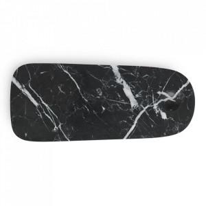 Platou servire negru din marmura 12x30 cm Pebble Normann Copenhagen