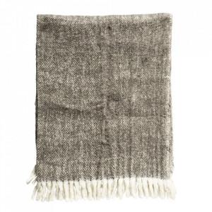 Pled din lana si fibre acrilice 125x150 cm Stacey Bloomingville