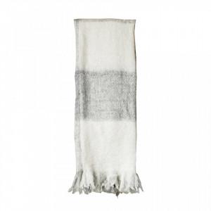 Pled gri din fibre acrilice 130x150 cm Tovas Creative Collection