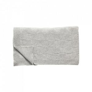 Pled gri din lana 130x200 cm Pattern Hubsch