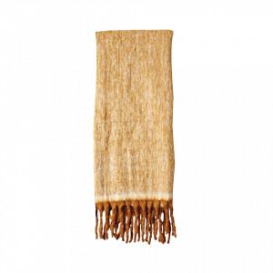 Pled maro din fibre acrilice 130x150 cm Mexa Bloomingville