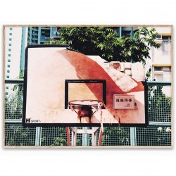 Poster cu rama stejar 30x40 cm Cities of Basketball 06 (Hong Kong) Paper Collective