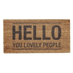 "Pres dreptunghiular pentru intrare ""Hello you lovely people"" Bloomingville"