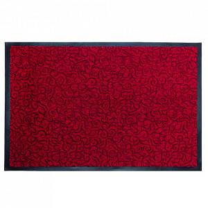 Pres dreptunghiular rosu din poliamida pentru intrare 60x90 cm Solero Lako