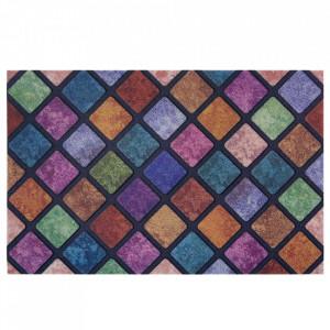 Pres multicolor dreptunghiular pentru intrare din polipropilena 45x70 cm Kval The Home