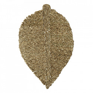 Pres oval maro din iarba de mare pentru intrare 52x80 cm Lovato Madam Stoltz